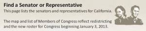 Find a Senator or Representative